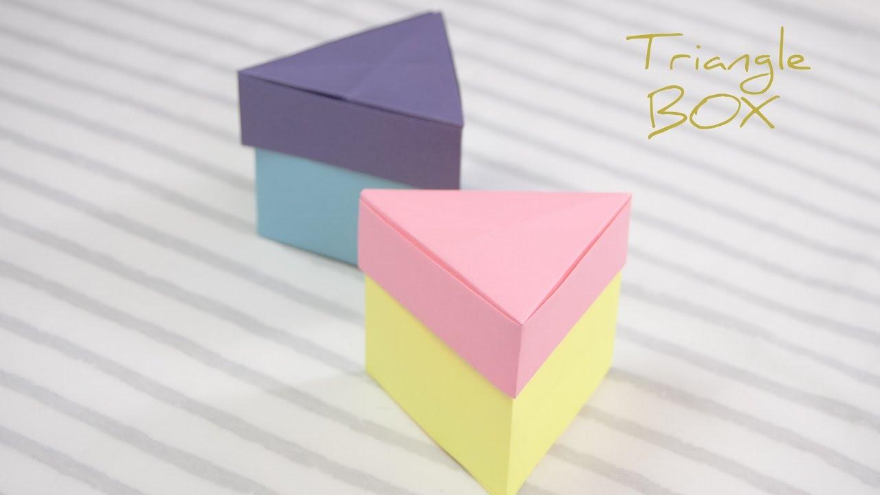 Easy Origami Triangle Box