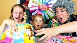 MYSTERY WHEEL OF TOYS SURPRISE SWITCH UP CHALLENGE!! GREEDY GRANNY vs Ruby Rube & Bonnie