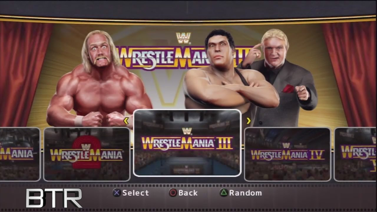 Wwe Legends Of Wrestlemania Arena Selection Screen Youtube