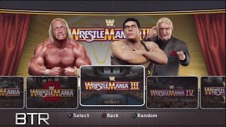 WWE Legends Of Wrestlemania Arena Selection Screen