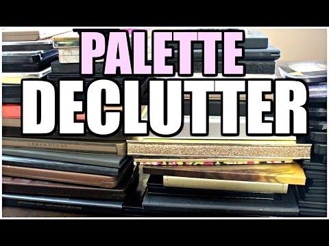 MAKEUP DECLUTTER | Eyeshadow Palettes