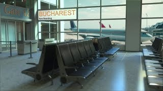 Bucharest Flight Boarding in the Airport Travelling To Romania | Videohive Project Templates