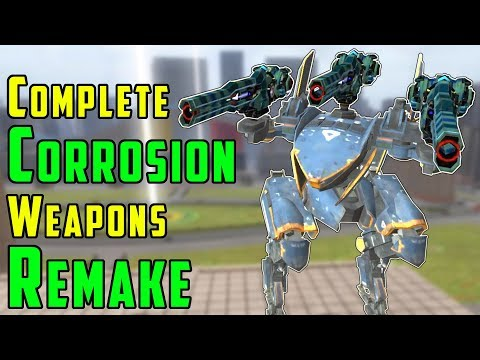 Complete Corrosion Weapons REMAKE War Robots Test Server Gameplay WR