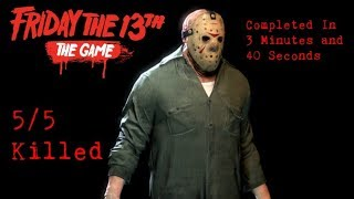Friday the 13th The Game - Jason Part 3 - 5/5 Killed
