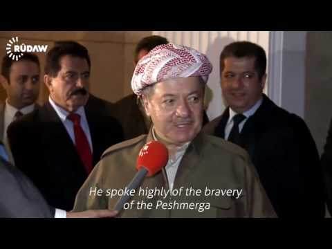 President Barzani talks to Rudaw before holding joint press conference with Francois Hollande