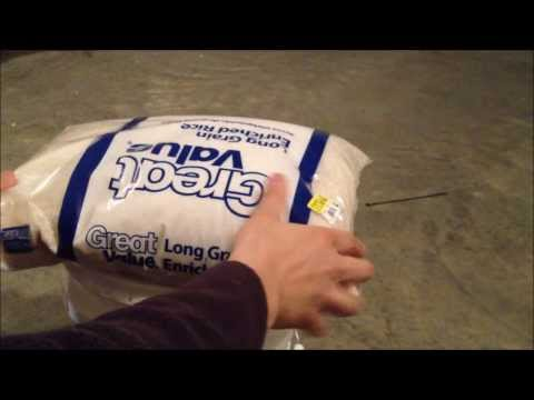 Best Method For Storing White Rice Long Term - Survival Food Storage - Part 1