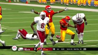 NCAA Football 08 Season 2007 2008 64 Team Playoff 1st RD WEST #16 Mississippi State vs #1 USC
