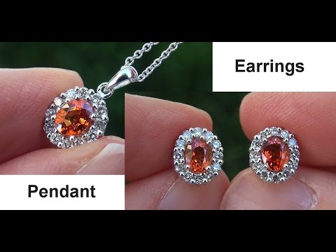 Estate vvs natural orange sapphire diamond 14k gold earrings pendant estate vvs natural orange sapphire diamond 14k gold earrings pendant set c704 aloadofball Gallery