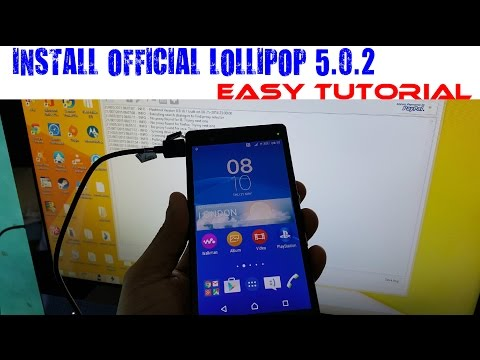 Sony Xperia Z Install Official Android 5.0.2 lollipop Tutorial