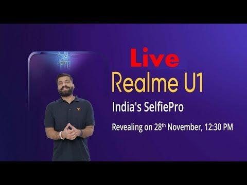 Realme U1 LIVE Event with Technical Guruji | RealMe U one Specs Price | Realme U1 Unboxing by Guruji