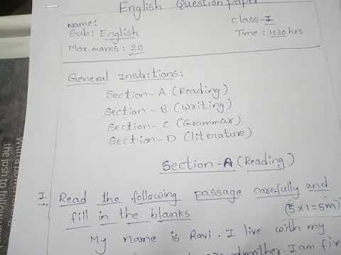 Nios deled english question paper according to blueprint youtube nios deled english question paper according to blueprint malvernweather Choice Image