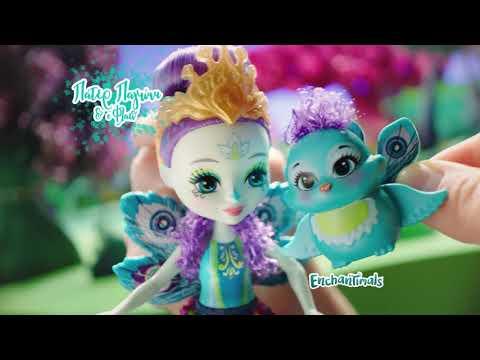 Enchantimals Saffi Κύκνος Κούκλα & Ζωάκι Φιλαράκι Poise