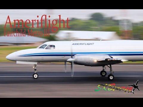 Ameriflight Fairchild Metro III action @ the Robert L. Bradshaw Int'l Airport, St. Kitts