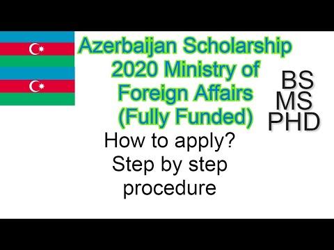 Azerbaijan Scholarship 2020   Fully Funded BS MS PHD