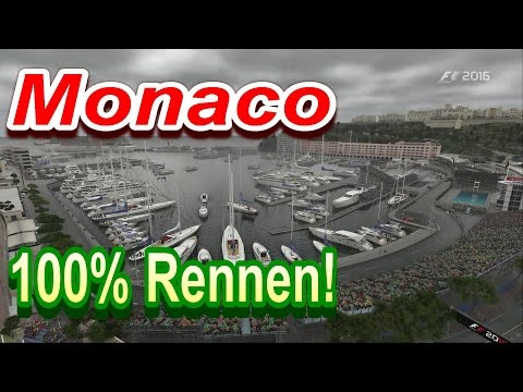 F1 2016 100% Rennen Monaco FULL WET