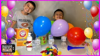 Easy science experiment for kids| Kid experiments at home Inflating Balloon without air OhBrothersTV