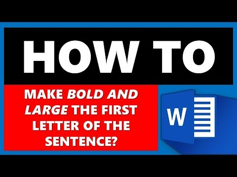 How to Make the First Letter Large in Microsoft Word (MS Word)?