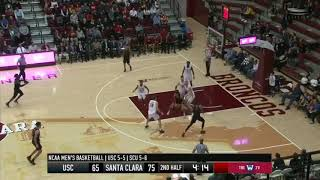 Men's Basketball: USC 92, Santa Clara 102 - Highlights 12/18/18