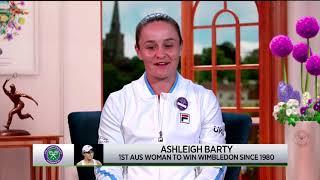 Ashleigh Barty: 2021 Wimbledon Final Win Interview