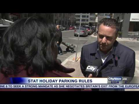 Video: Pay parking not enforced on stat holidays in Toronto