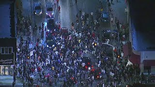 Large crowd gets rowdy during memorial for XXXTentacion | ABC7