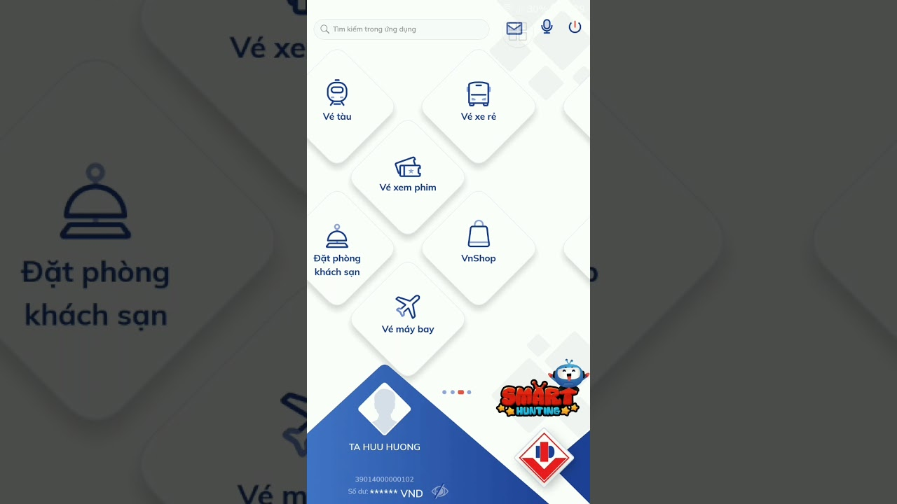 Đặt lại mật khẩu smart otp cho BIDV Smartbanking