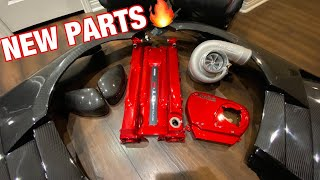 RB26 G35 SWAP UPDATE | BIG PRECISION TURBO CARBON FENDERS & MORE!!