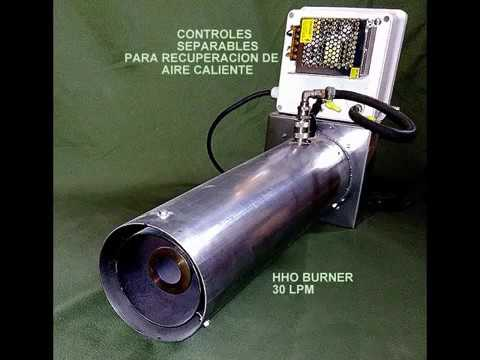 Industrial HHO burner 30 lpm  WATER is the fuel   YouTube