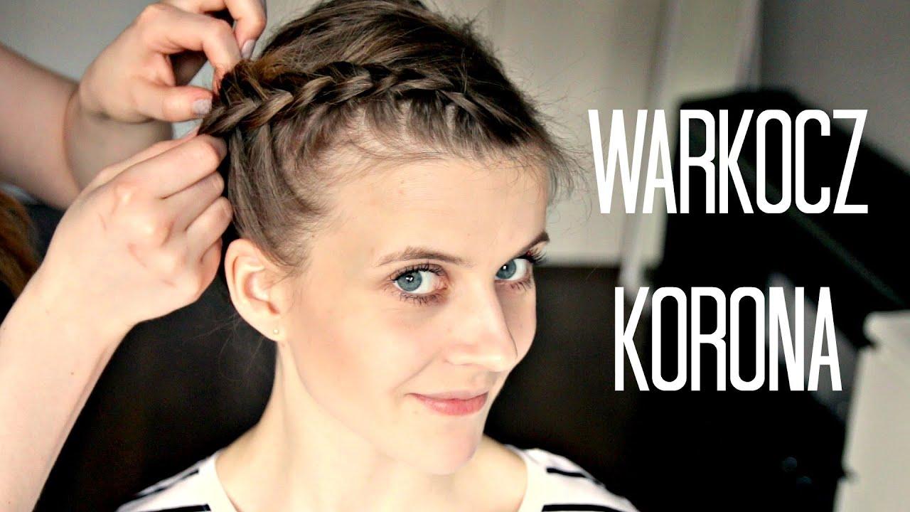 Prosta Fryzura Korona Z Krótkich I Cienkich Włosów Marka Youtube