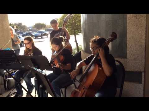 Buffalo Creek Middle School orchestra performs before school board meeting