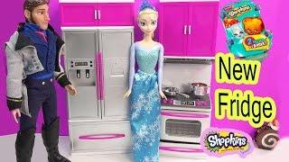 Queen Elsa Disney Frozen Shopkins Season 3 Blind Bag Surprise Fridge Prince Hans Toy Unboxing