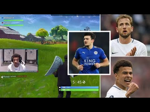 Dele Alli, Harry Kane & Harry Maguire play Fortnite together!
