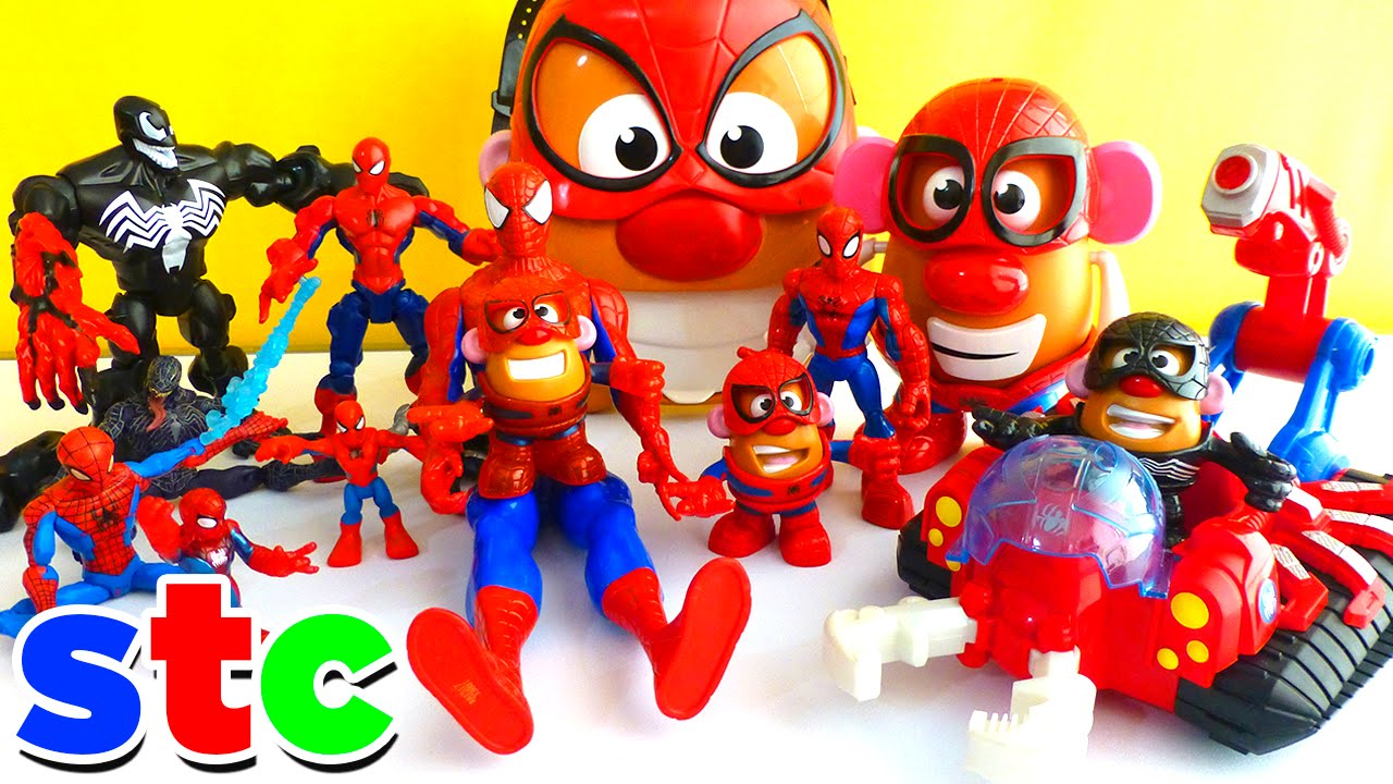 Mr Potato Head Spiderman Marvel Avengers Coleccion De Juguetes Youtube