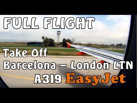 (Students Flying & Shouting) BARCELONA - LONDON LTN | TAKE OFF | *FULL FLIGHT*