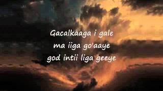 Somali Lyrics - Karaoke - Soo Guuree - YouTube