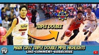 Former Star Hotshots Mark Cruz Triple Double MPBL Highlights   16 POINTS 12 REBOUNDS 11 ASSISTS