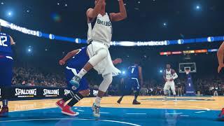 NBA 2K18 MyGM Clippers vs Mavericks inc. MJ, Olajuwon