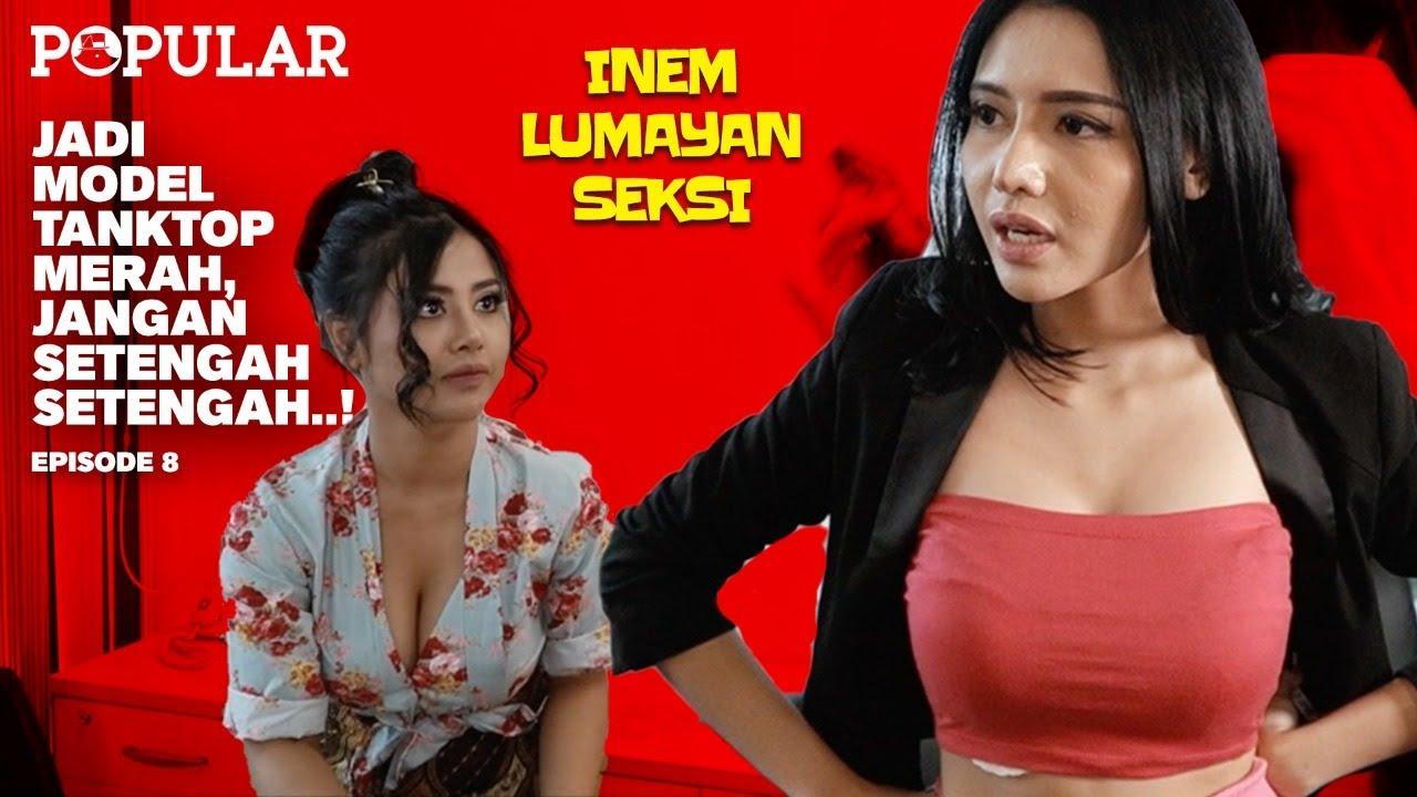 JADI MODEL TANKTOP MERAH, JANGAN SETENGAH-SETENGAH..! | New Inem Lumayan Seksi By Tania Ayu