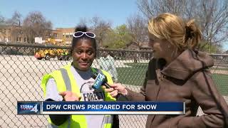 Wisconsin, DPW prepares for spring snow storm