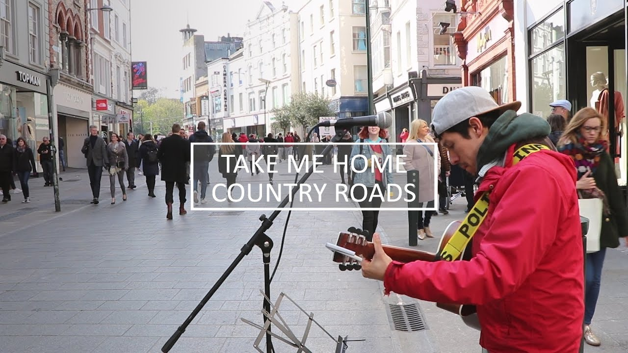 Take me Home, Country Roads - John Denver (Tito Larios cover, busking on Grafton Street)