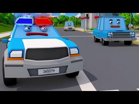 COMPILATION de La Voiture de police Voitures Dessin animé éducatif en 3D