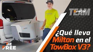 ¿Qué lleva Milton Ramos en el portaequipajes TowBox V3?