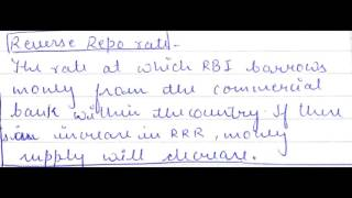 Different interest rates by RBI and banks. CRR, SLR, BANK RATE, REPO RATE, REVERSE REPO RATE ,MCLR .