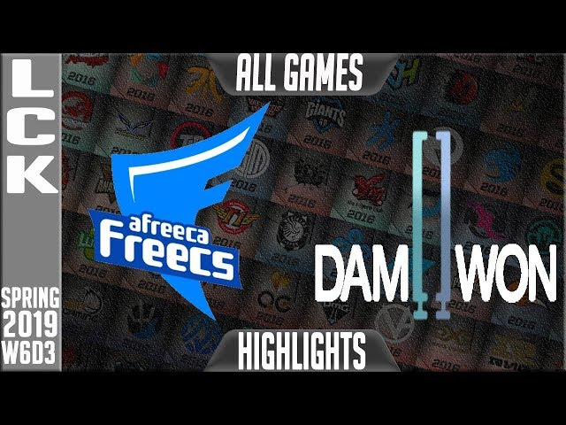 AF vs DWG Highlights ALL GAMES | LCK Spring 2019 Week 6 Day 3 | Afreeca Freecs vs Damwon Gaming