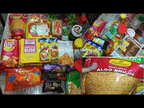 Indian mom Simple Snacks Shopping in DMart in Telugu| Smart Telugu Housewife
