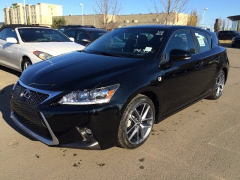 new black 2015 lexus ct 200h hybrid f sport navigation walk around review lexus of edmonton. Black Bedroom Furniture Sets. Home Design Ideas