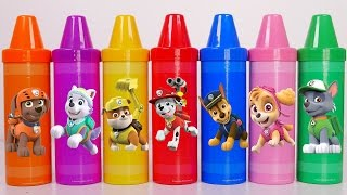 Giant Crayons Surprise Toys!! Learn Colors with Paw Patrol