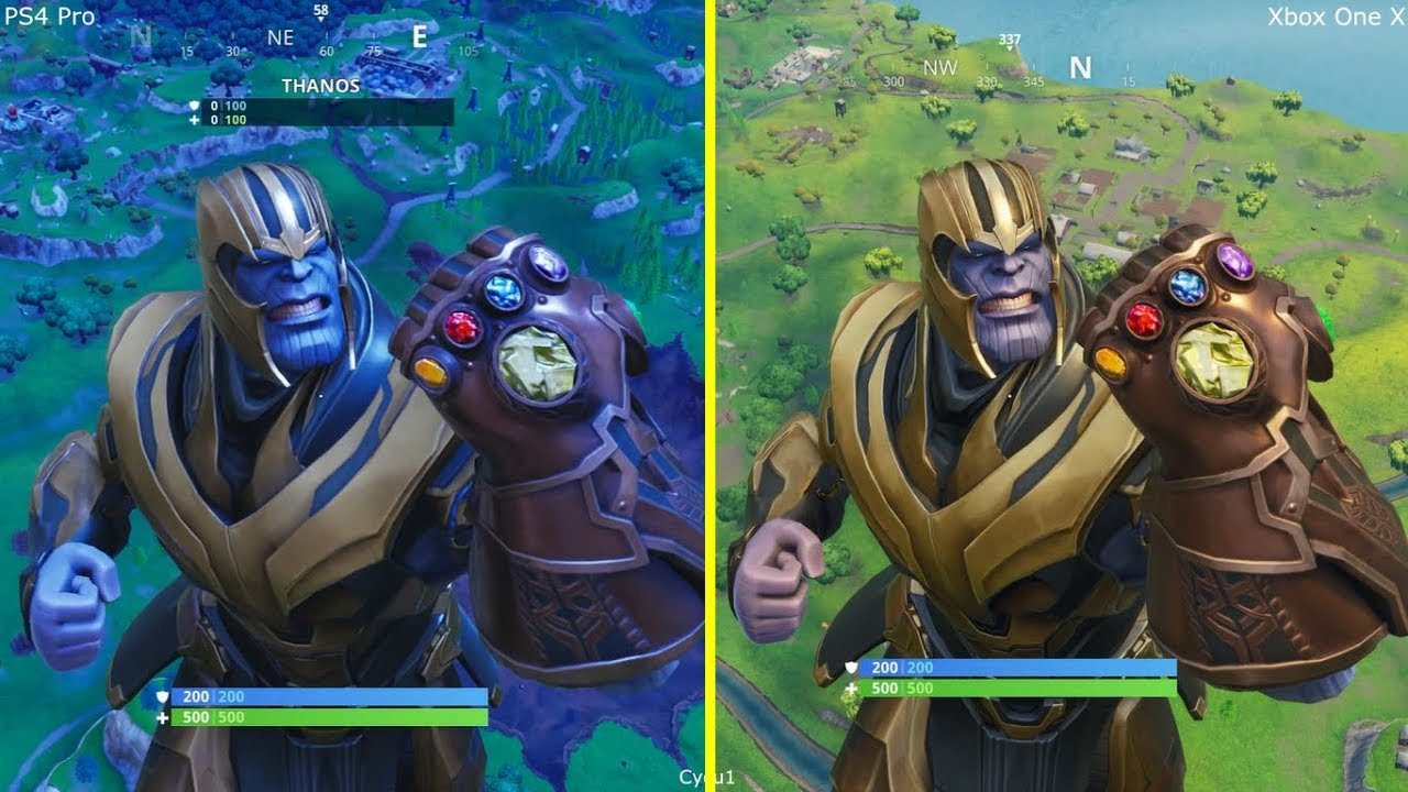 Fortnite Battle Royale Ps4 Pro Vs Xbox One X Graphics Comparison