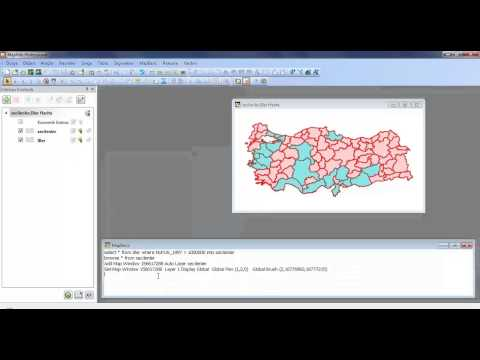 MapInfo'da (32 Bit) Mapbasic Penceresi