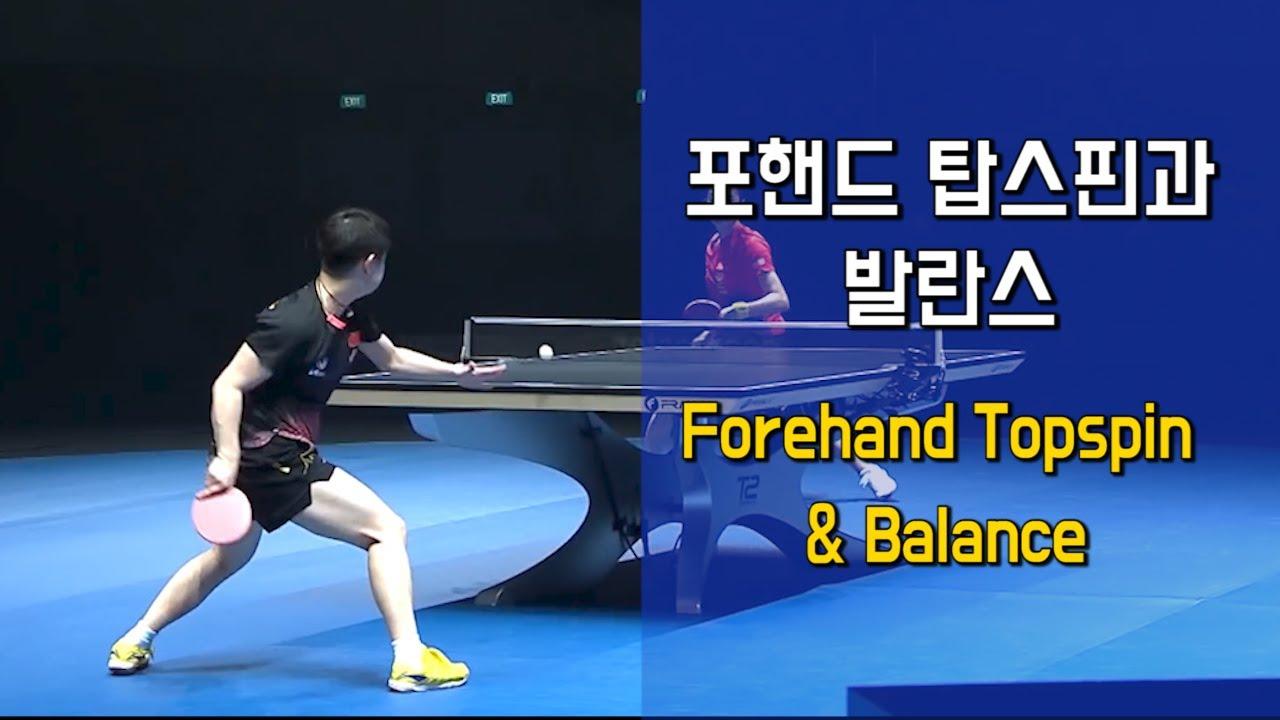 포핸드 탑스핀과 발란스 Forehand Topspin and Balance - YouTube